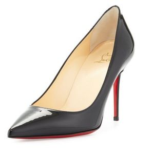 Christian Louboutin Decollete 554 100 Black Patent